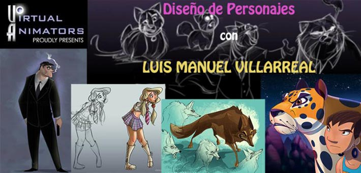 Virtual_Animators_Luis_Villarrreal_Character_Design_Class_Banner